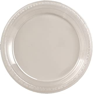 Creative Converting Touch of Color 50 Count Plastic Dinner Plates, Clear