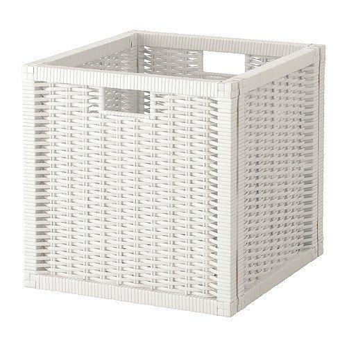 Ikea Branäs - Cestino portaoggetti cubico compatibile con scaffali Expedit e Kallax bianco