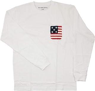 ハワイアン雑貨 ANTI BALLISTIC アンティバルリスティック メンズ 長袖 Tシャツ ロングTシャツ サガラ刺繍(ホワイト) AN1LT073WHT サーフブランド ハワイ 雑貨 (XLサイズ)