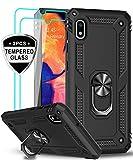 LeYi für Samsung Galaxy A10/Galaxy M10 Hülle mit Panzerglas Schutzfolie(2 Stück),360 Grad Ring Halter Handy Hüllen Cover Magnetische Bumper Schutzhülle für Hülle Samsung Galaxy A10 Handyhülle Schwarz