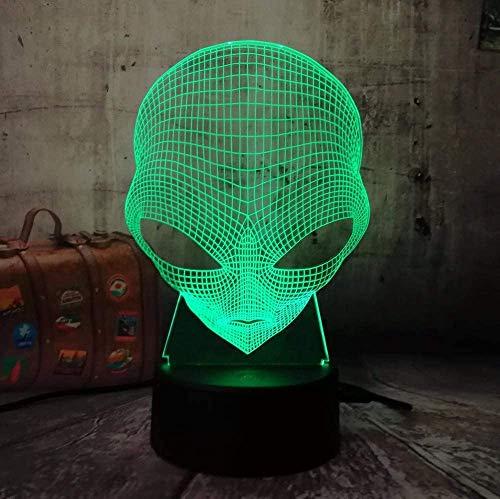 3D Emoji Alien Lampe Tisch Schreibtisch Nachtlicht 7 Farbwechsel USB Led Dekoration Drahtlose Taschenlampe Atmosphäre Birne Kreative