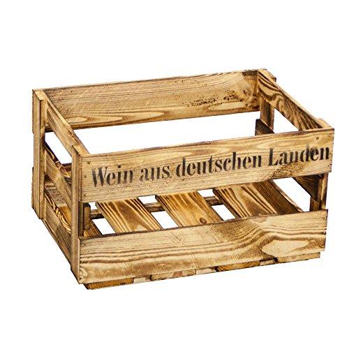 Kistenbaron Weinkiste Wein aus Deutschen Landen Neu oder Geflammt (Einzelset, Geflammt)