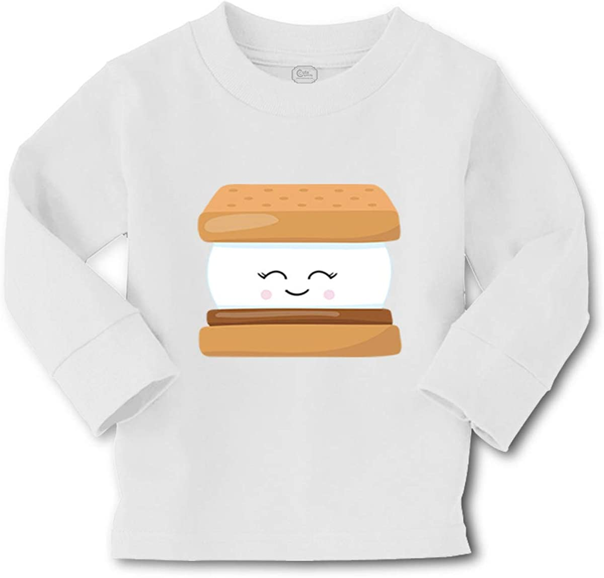 Cute Rascals Kids Long Sleeve T Shirt S'More Camping Cotton Boy & Girl Clothes