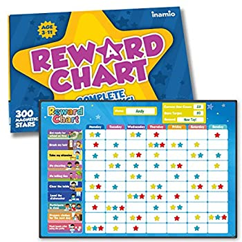 inamio Reward Chart for Kids – 80+ Chores Chore Chart for Multiple Kids – Magnetic for Toddlers at Home – Great for Classroom Potty Training or Behavior Training – Upgraded Version