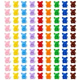 90 Osos Contadores Osos de Clasificacin de Colores Mini Ositos de Plstico de Color Arcoris Osos a Juego para Herramienta de Conteo de Guardera Actividad de Combinacin de Colores Manualidades DIY