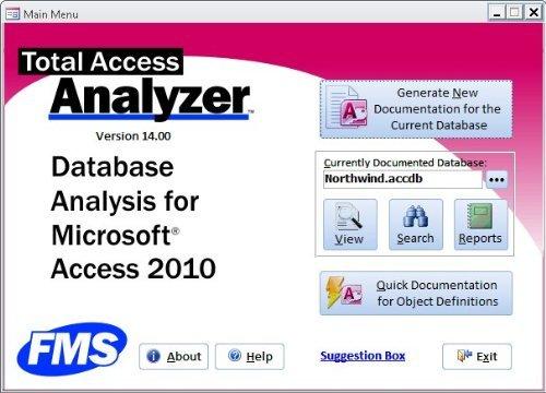 Total Access Analyzer 2010 für Access 2010 (32-/64-Bit) - Access-Datenbanken analysieren, debuggen und dokumentieren