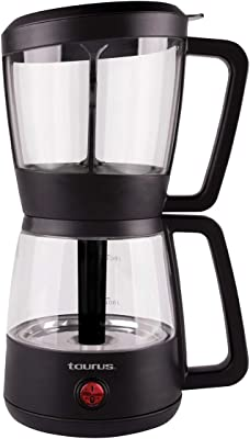 Taurus Siphon Black, Cafeterera de Extracción al Vacío, Mejor Sabor y Aroma, Cafe Gourmet, Filtro Permanente 900ml