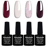 Allenbelle Smalto Semipermante Per Unghie Kit In Gel Uv Led Smalti Semipermanenti Per Unghie Nail Polish UV LED Gel Unghie (044)