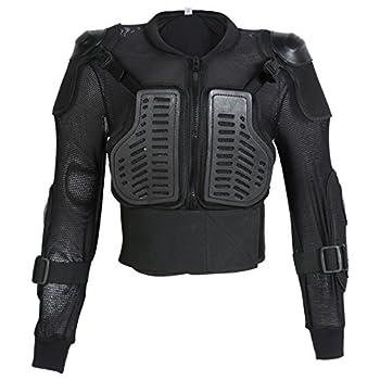 Texpeed Veste avec Protection Dorsale - Enfant - Ans 4/6/8/10/12 - pour Moto/Sport - 8 Ans - Tour de Poitrine 71 cm