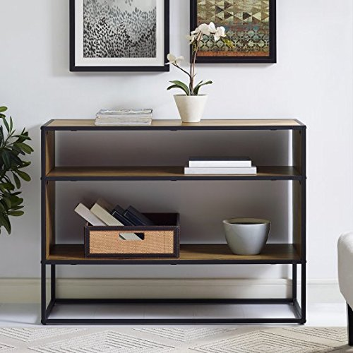 "Versatile,Stylish and Durable Mainstays Atmore 40"" Media Storage Console,Ample Open Storage Space,Use it as a Bookshelf or Accent Table,Great in Your Hallway or Entryway or Living Room,Barnwood"