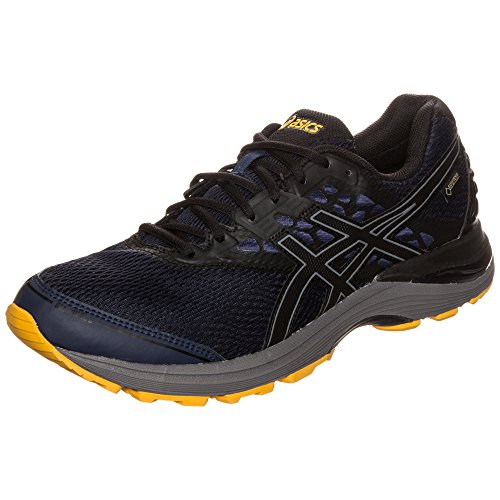 Asics Gel-Pulse 9 G-TX T7d4n-5890, Zapatillas de Running Hombre, (Peacoat/Black/Gold Fusion), 43.5 EU