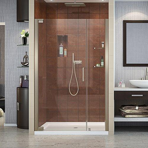 DreamLine Elegance 46-48 in. W x 72 in. H Frameless Pivot Shower Door in Brushed Nickel, SHDR-4146720-04