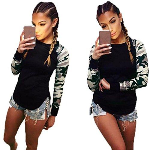 Women Blouse,Haoricu Fall Women Long Sleeve Shirt Casual Blouse Tops T Shirt (XL, Army Green)