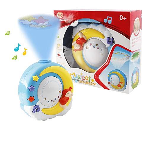 WISHTIME Juguete Musical móvil Cuna de bebé, Giratorio, con Estrellas, sueños, proyector, Reproduce Canciones relajantes con Control Remoto para bebés