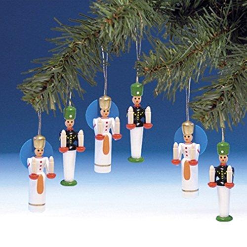 Baumbehang Bergmann und Engel – 1 Paar - Christbaumschmuck – Weihnachtsbaumschmuck – Holz – Seiffen – Handarbeit aus dem Erzgebirge – Höhe 5,5 cm – NEU