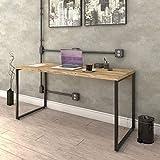 Mesa Escrivaninha Industrial 150cm Trevalla Kuadra ME150-E10 Carvalho