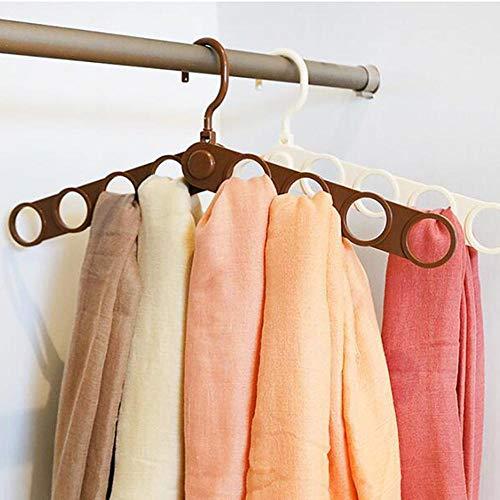 zhaoyangeng 1 Stks Eenvoudige Sjaal Rack Kleurrijke Vouwen Ring Sjaal Rack Multi-Purpose Hanger Zijde Sjaal Tie Rack Ruimte Opslaan Kleding Opslag Suppli@Light_Green