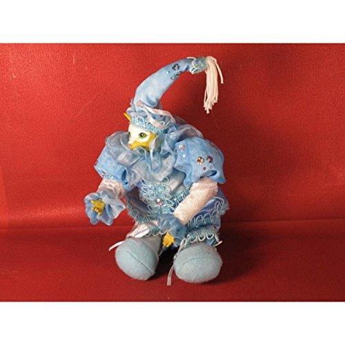Figurine chat luttin bleu petit modèle