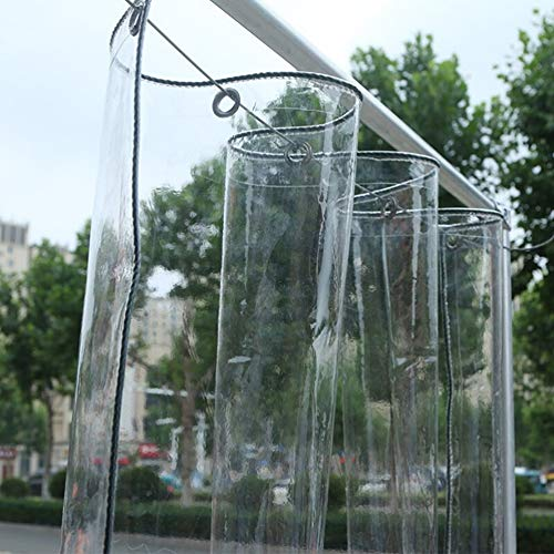 Lona Transparente Impermeable Exterior, Lona de protección con Ojales para Muebles de jardín, Piscina, Coche, Lona de protección Impermeable y Resistente a la Rotura