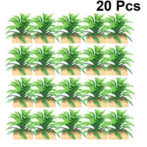TENDYCOCO 20 Piezas de Plantas de Helechos Artificiales Arbustos Arbustos Artificiales Vegetación para Casa de Plástico Exterior Jardín Oficina Jardín Decoración Interior