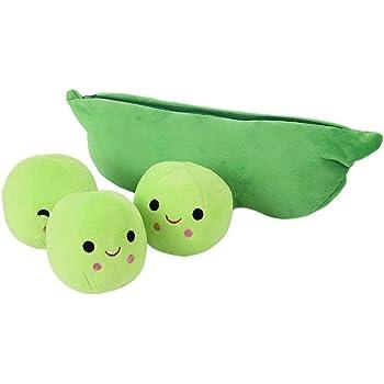 Oyria Pea Plush Toy ,3 Peas in a Pod Plush Cute Peapod