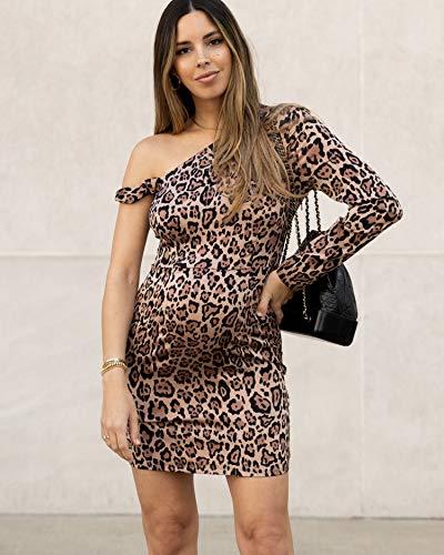 The Drop Women's Leopard Print One Shoulder Long Sleeve Bodycon Dress by @sivanayla