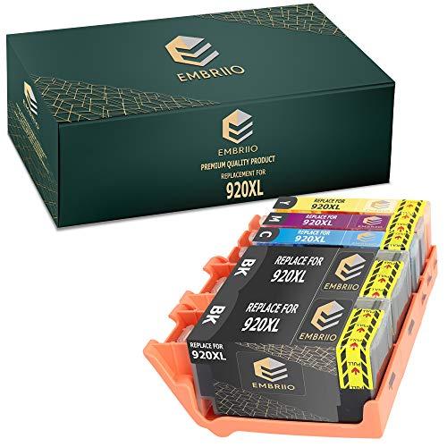 EMBRIIO 920XL 920 XL 5X Cartuchos de Tinta Reemplazo para HP OfficeJet 6000 6500 6500A 7000 7500A