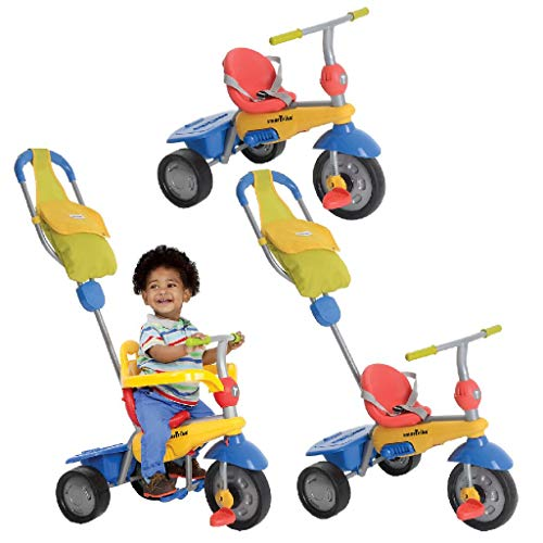 Smart Trike New Breeze GL Touch Steering 3-in-1Tricycle Toddler Bike Canne