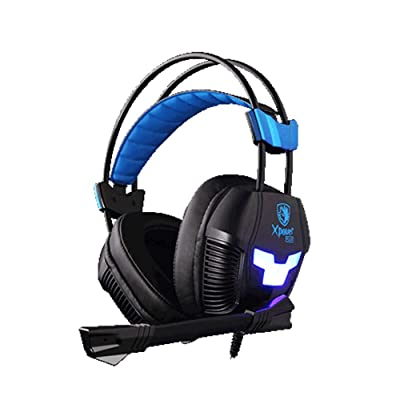 SADES Gaming Headset XPOWER Plus Over-Ear PC He...