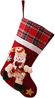 LENXH_Christmas Gift Bag Christmas Socks Ornaments Tree Ornament Decoration Holiday Christmas Santa Claus Decor Gift