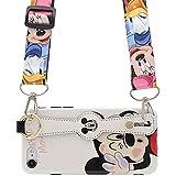 MC Fashion iPhone SE 2020 Hülle, Cute Cartoon Glänzende Hülle mit Hand Grip Neck Strap, Full Body Slim Fit Protective Soft TPU Hülle für iPhone SE 2020, iPhone 7 & iPhone 8 4,7 Zoll (Mickey Mouse)