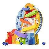 YGJT Circuit de Billes Jouet Bebe 3 Ans Jouet en Bois Grand Roue Jouet Enfant Jouets de Motricité Fine Puzzle Montessori pour Garçon Fille 36 Mois Jouets éducatifs sans BPA Cadeau Anniversaire Noel