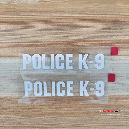 (2) 4'' Police K-9 K9 Word Dog Decal Sticker German Shepherd Car Vinyl White sda1