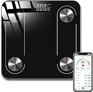 Báscula Inteligente de Grasa Corporal, Balanza Digital Recargable USB para Detectar Datos de Salud, Medición Precisa con V...