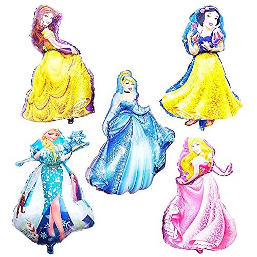 CYSJ Globo Princesa Disney, Helio Globo de Plástico, Plástico Princesa de Disney Cumpleaños Balloon, Accesorios Princesa, Globos Comunion, Navidad Decoracion(10Pcs)