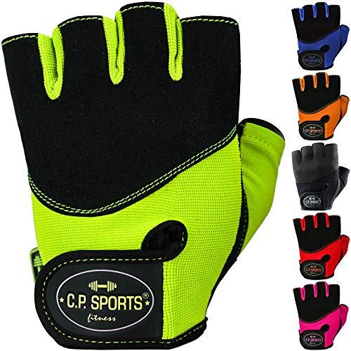 C.P. Sports Iron-Handschuh Komfort Trainingshandschuh Fitness Handschuhe für Damen und Herren (Neongelb, XS/6 = 14-16cm)