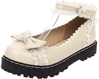 Vrouwen Strik Mary Jane Schoenen Zoete Lolita Prinses Pompen Leuke Gesp Ronde Kop Japan Stijl Platform Schoenen 34-42