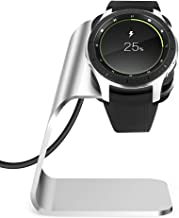 NANW Compatible with Samsung Galaxy Watch 42mm 46mm Gear S3 Charger (Not for Active), Replacement Charging Cradle Dock Station Adapter Holder with 4.2ft USB Charging Cable, Silver