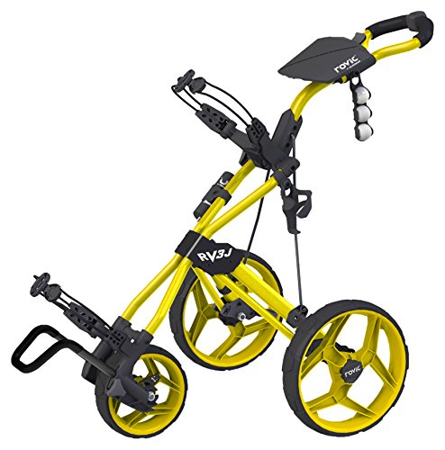 Clicgear Rovic Junior Golf Trolley, Yellow, one Size
