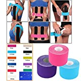 Kinesiology Tape - Pain Relief Adhesive - Best Therapeutic Muscle Support Aid - Sports Wrap for Knee Elbow Wrist Back Shoulder Ankle & Neck Injury Tape - Physio tap Water Resistant - Price Xes