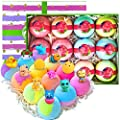 Surprise Bath Bomb Gift Set! 12 Large Kids Bath Bombs with Toys Inside! Natural Moisturizing Toy Bath Bombs with Toys Inside for Boys