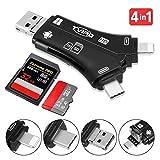 Tvird Kartenleser,SD/Micro SD Kartenleser Kartenlesegerät 4 in 1 Speicherkartenleser...