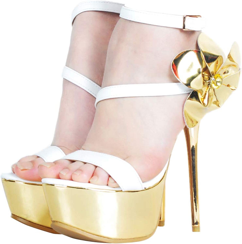 CASSOCK Ladies Handmade High Heel Sandals gold Flower Buckle Strap Fashion shoes