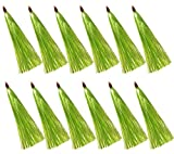 JSHANMEI Fishing Lure Flash Teaser Tail Bucktail Teaser Fishing Bait Rigs (Green - 12pcs)