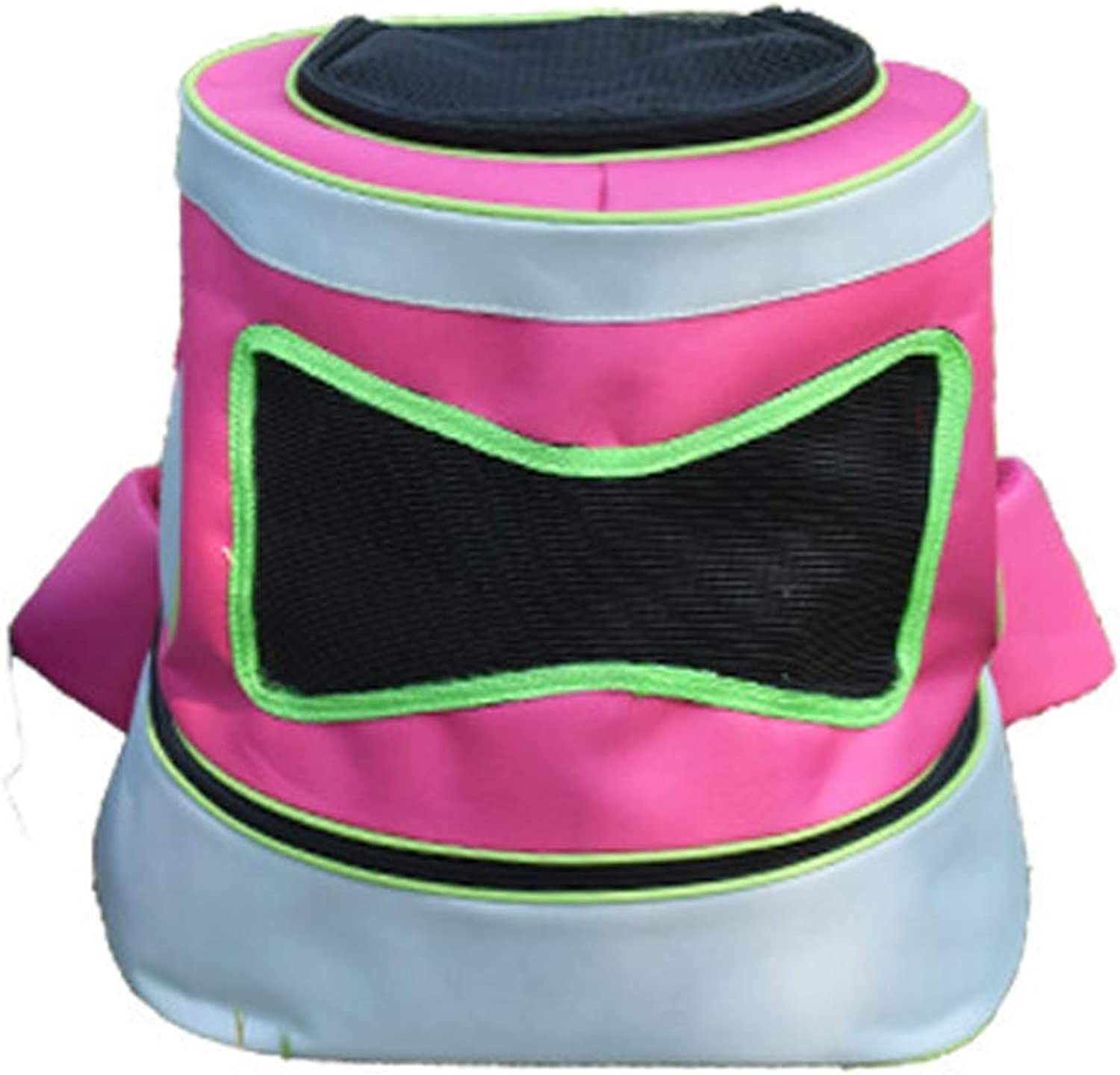 Pet Bag Lightweight Fabric Mesh Breathable Handsfree Travel Camping Comfortable and Portable Folding Dog Cat Pet Bag,Pink,S