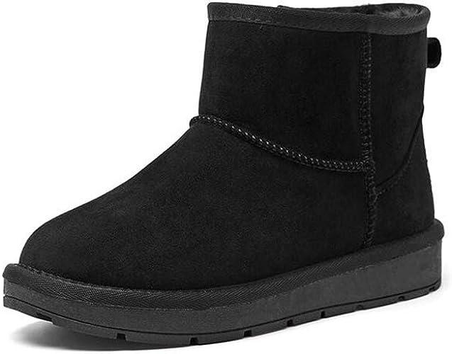 YIWU Hiver épais pour Femmes, Plus Tube de Velours en Tube de Coton, Chaussures pour Femmes Chaudes (Couleur   Noir, Taille   EU38 UK5.5 CN38)