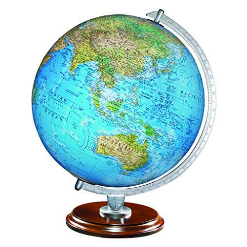 Replogle Standard (Illuminated) 12inch Topographical on Outside and Political map on Inside, Made in USA