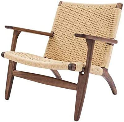 Matt Blatt Hans Wegner Replica CH25 Easy Woven Chair (Walnut, Natural)