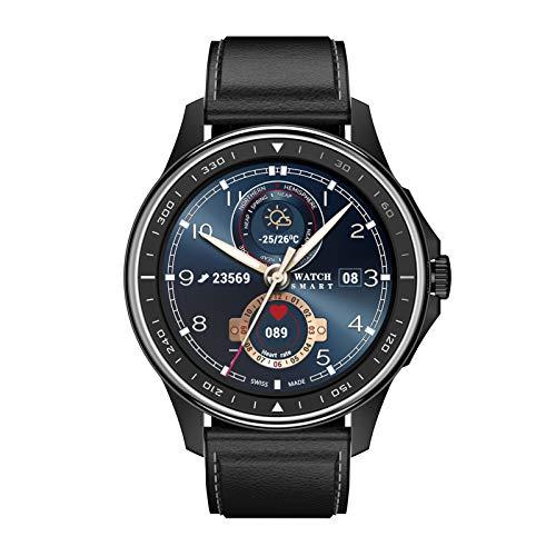 BNMY Smartwatch Llamada Bluetooth Reloj Inteligente Impermeable con Monitor Frecuencia Cardíaca Monitor Sueño Podómetro Seguimiento Actividad Física con Pantalla Táctil para Android iOS,B