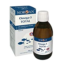 Omega-3 Total Naturell (200ml) - flüssiges Omega-3 Öl/Fischöl - 2.000 mg Omega-3 pro Portion